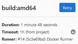 """Capture d'écran indiquant un temps de build de 1'48"""""""